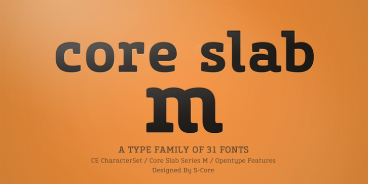 Core Slab M font preview
