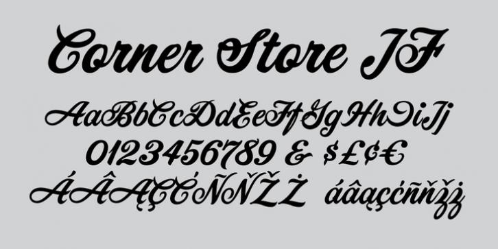 corner store jf font free download