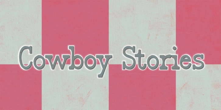 Cowboy Stories font preview