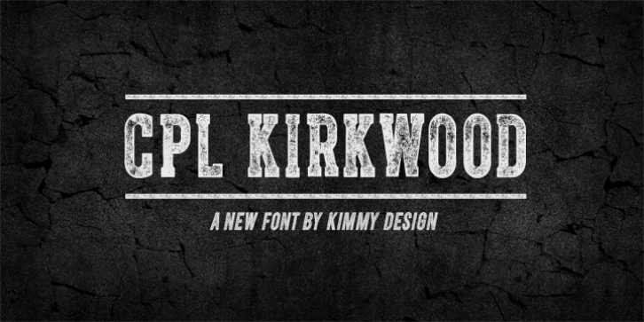 Cpl Kirkwood font preview