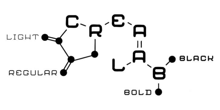 Crealab font preview