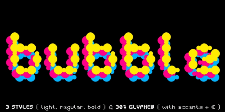 Curly Lava Bubble font preview