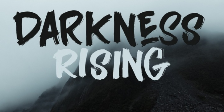 Darkness Rising font preview