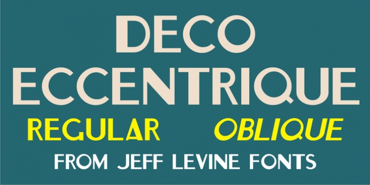 Deco Eccentrique JNL font preview