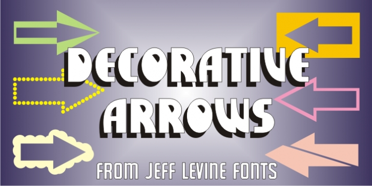 Decorative Arrows JNL font preview