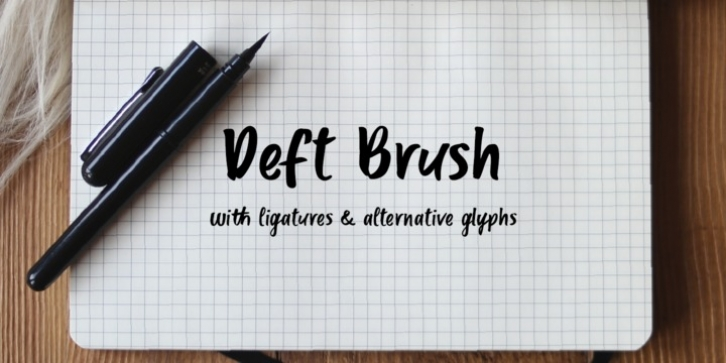 Deft Brush font preview