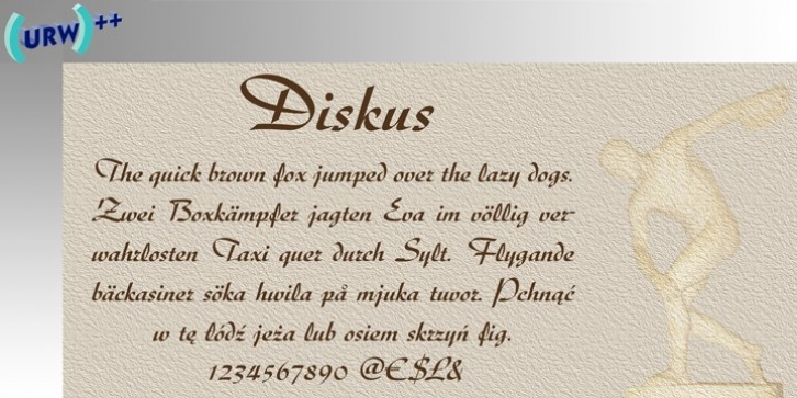 Diskus font preview