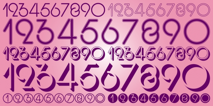 Display Digits Three font preview