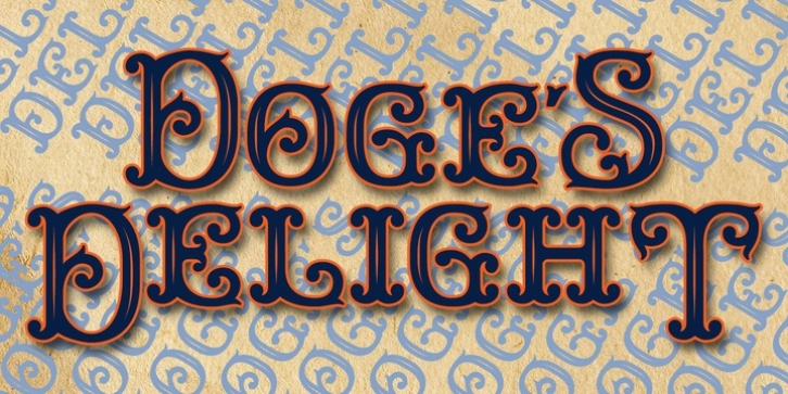 Doge's Delight font preview