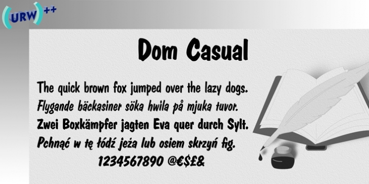 Dom Casual font preview