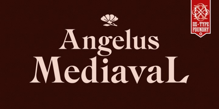 DXAngelus Mediaval font preview