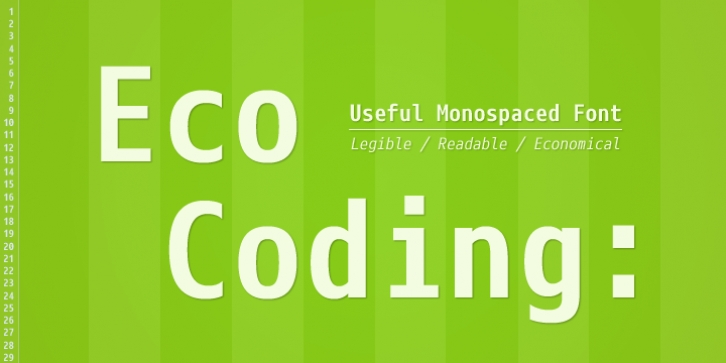 Eco Coding font preview