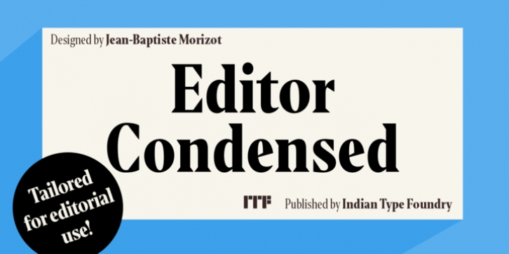Editor Condensed font preview
