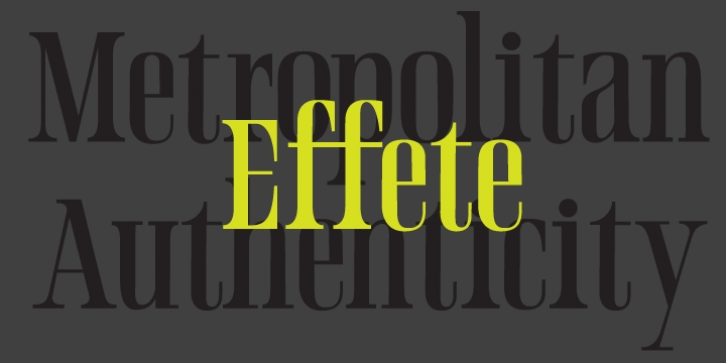 Effete font preview