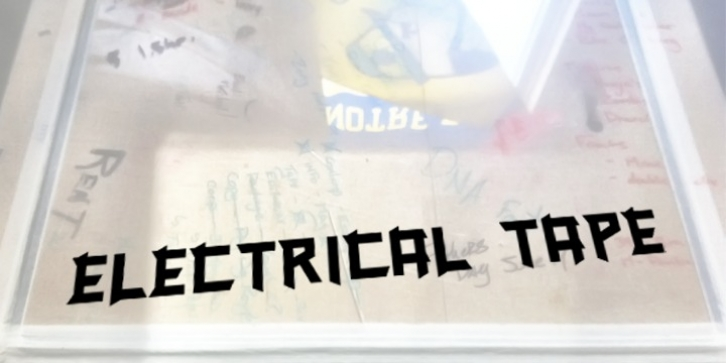 Electrical Tape font preview