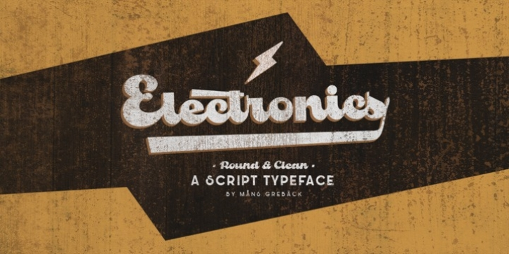 Electronics font preview
