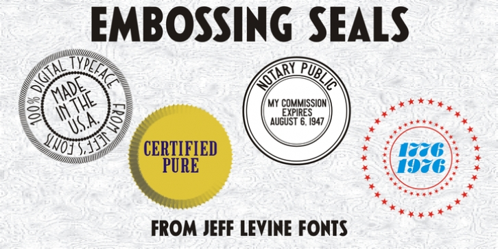 Embossing Seals JNL font preview