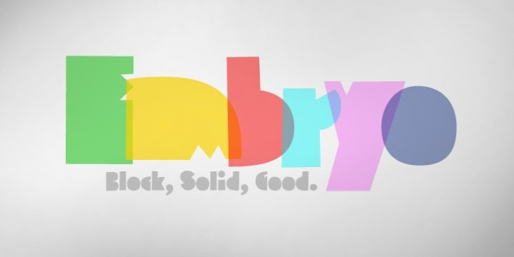 Embryo font preview
