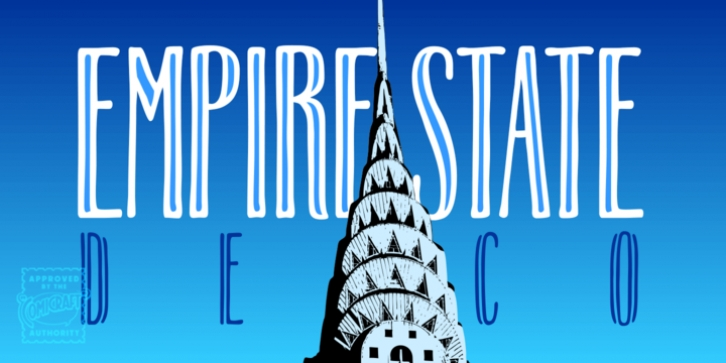 Empire State Deco font preview