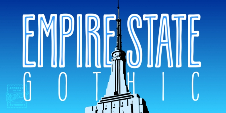 Empire State Gothic font preview