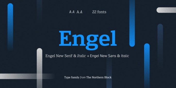 Engel New font preview