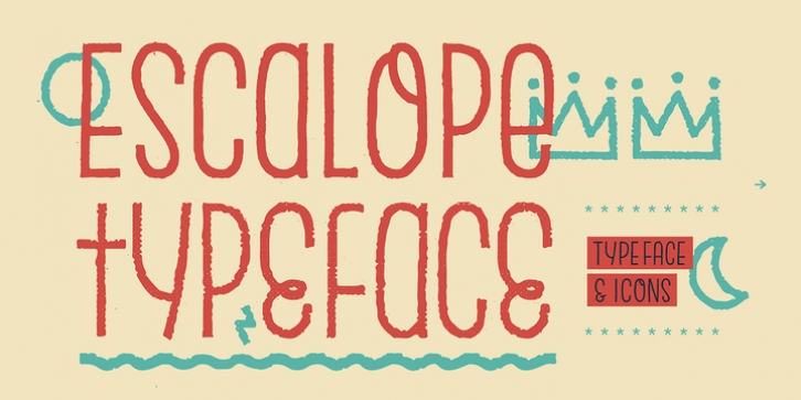 Escalope font preview