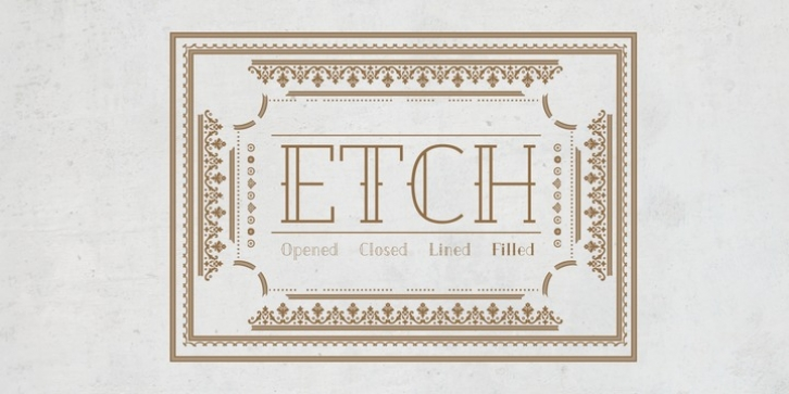 Etch font preview