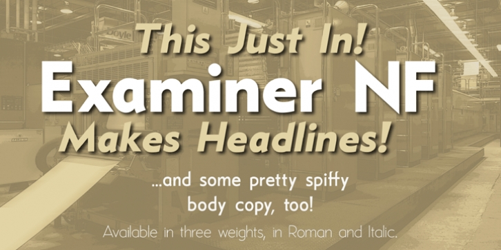 Examiner NF font preview