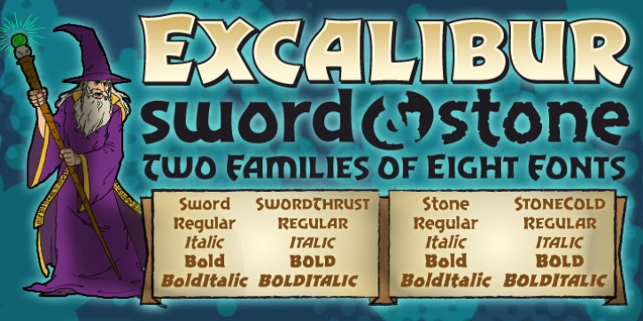 Excalibur Stone font preview