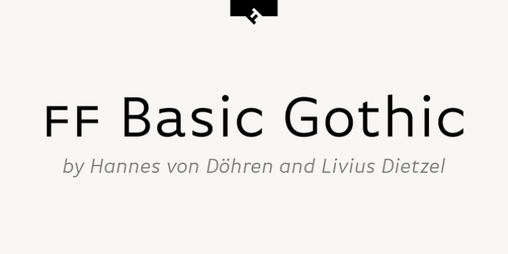 FF Basic Gothic Pro font preview