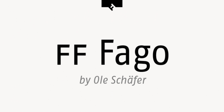 FF Fago font preview