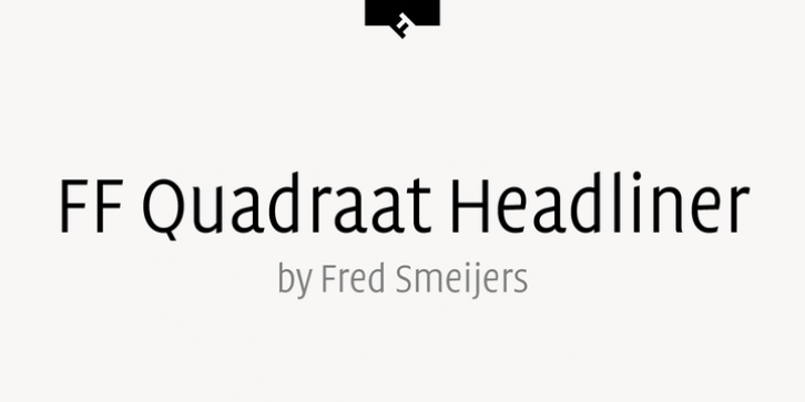FF Quadraat Headliner font preview