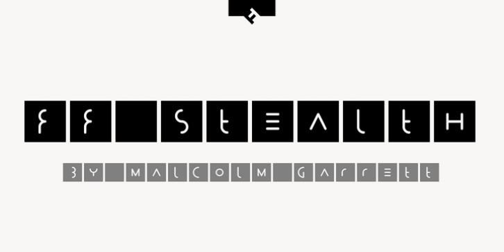 FF Stealth font preview
