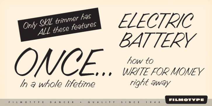 Filmotype Dancer font preview