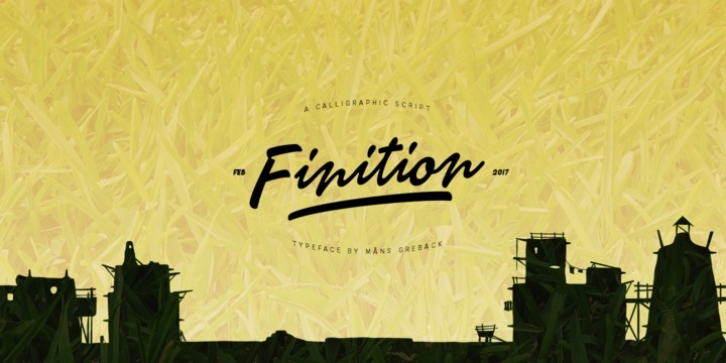 Finition font preview
