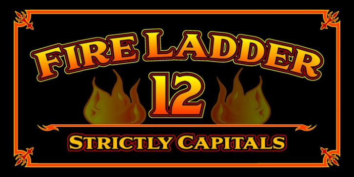 Fire Ladder font preview
