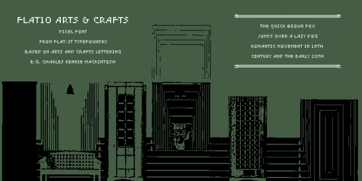 Flat10 Arts And Crafts font preview
