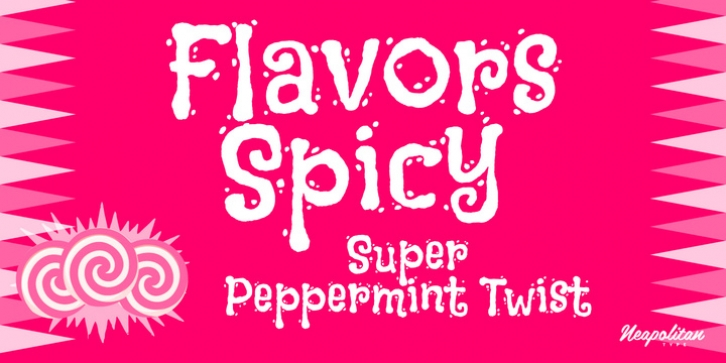 Flavors Pro Spicy font preview