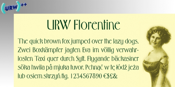 Florentine font preview