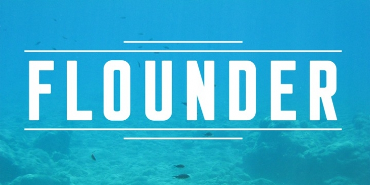 Flounder font preview
