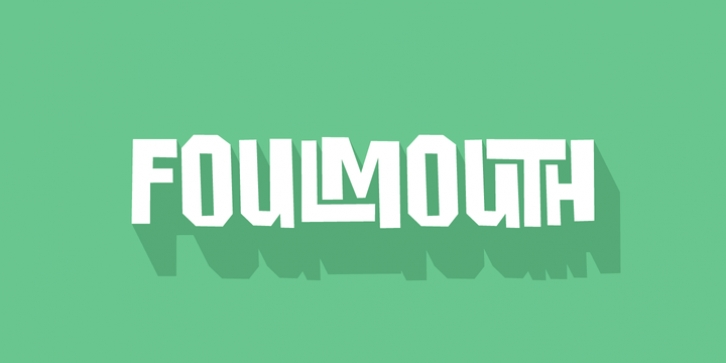 Foulmouth font preview
