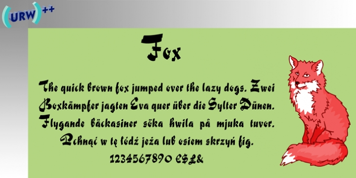 Fox font preview