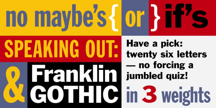 Franklin Gothic font preview