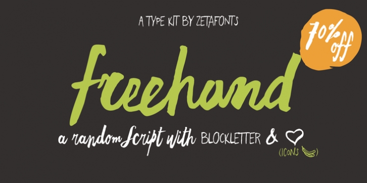 Freehand Brush font preview