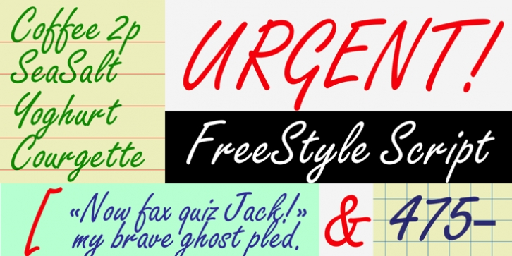Freestyle Script font preview
