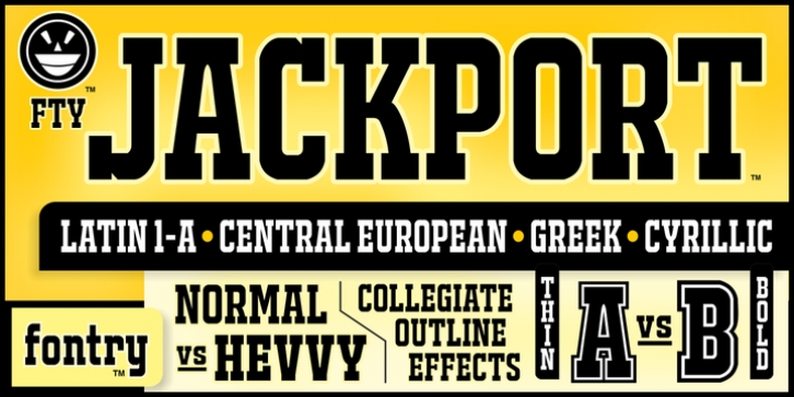 FTY JACKPORT font preview