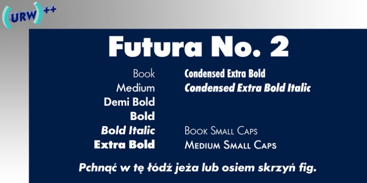 Futura No 2 font preview