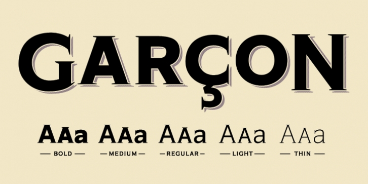 Garcon Grotesque font preview