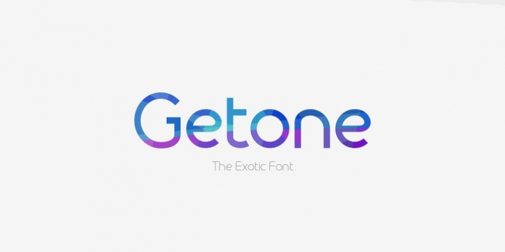 Getone font preview