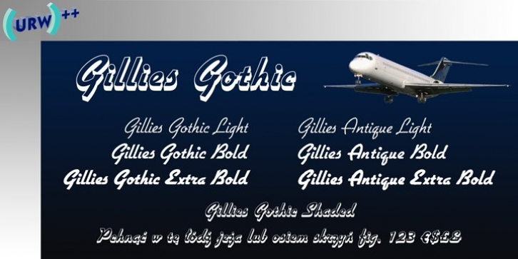 Gillies Gothic font preview